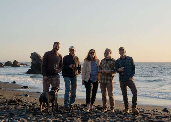 The gang on Pebble Beach