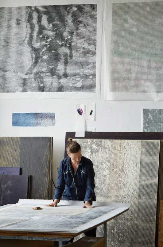Christiane Baumgartner in her studio