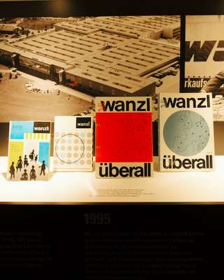 Early Wanzl catalogues featuring a slick typeface