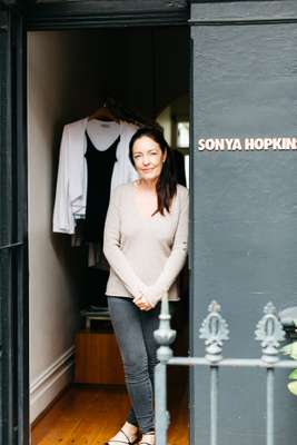 Owner and designer Sonya Hopkins
