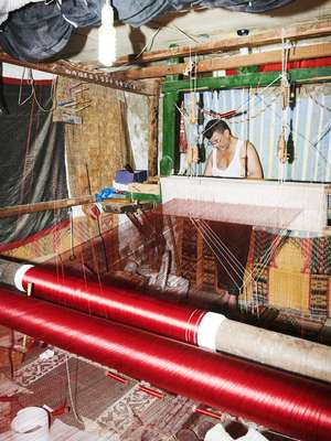 Abedani Chantouri is a sixth-generation silk weaver