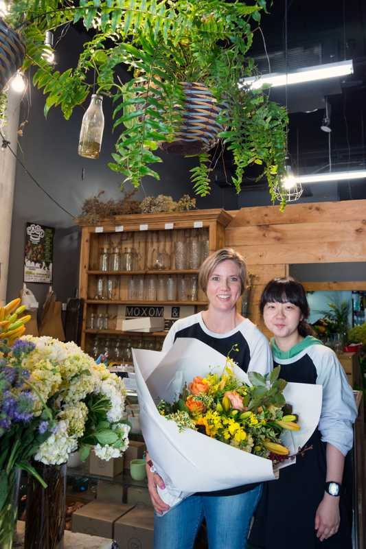 Staff at Moxom and Whitney florist