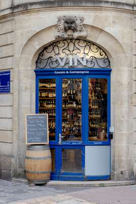 Wine shop in the city centre