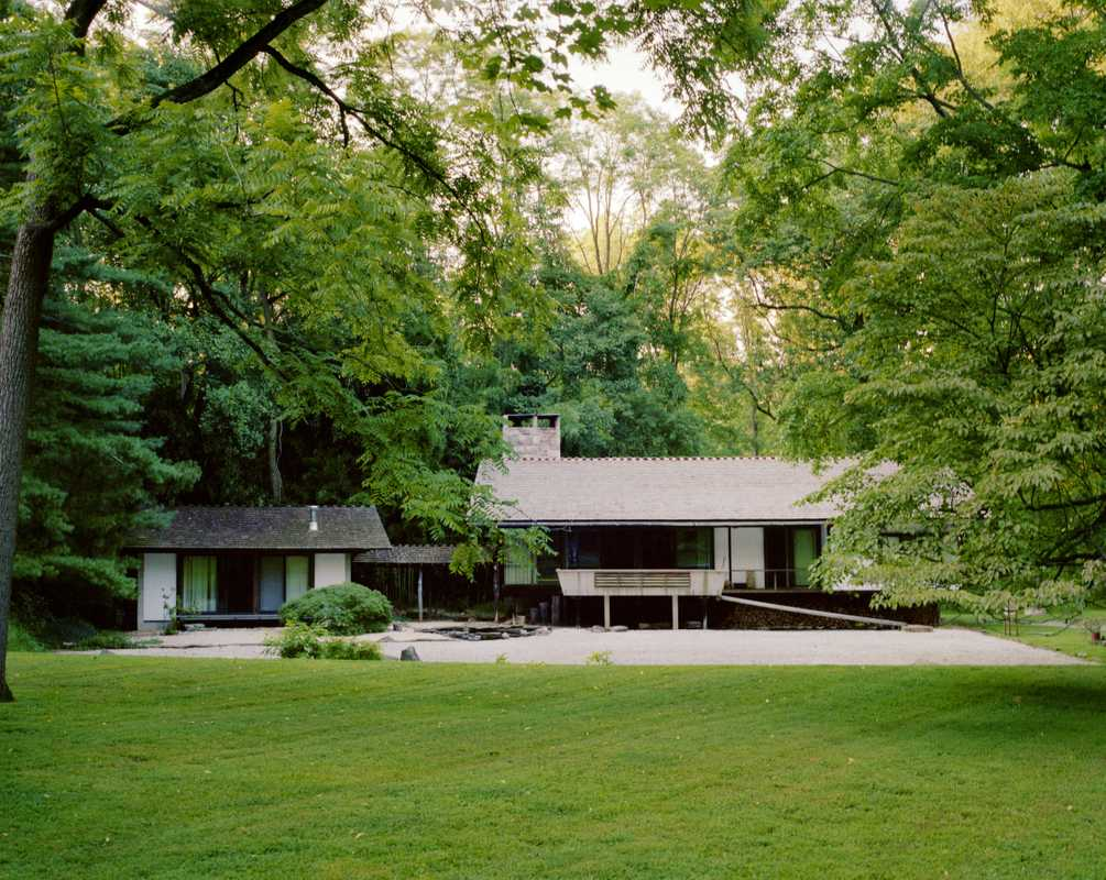 Mira Nakashima's home, designed by George