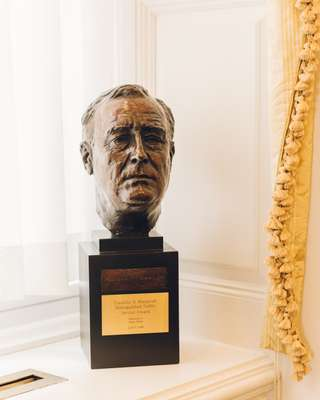 Pelosi was given the Franklin D Roosevelt Distinguished Public Service Award in 2008