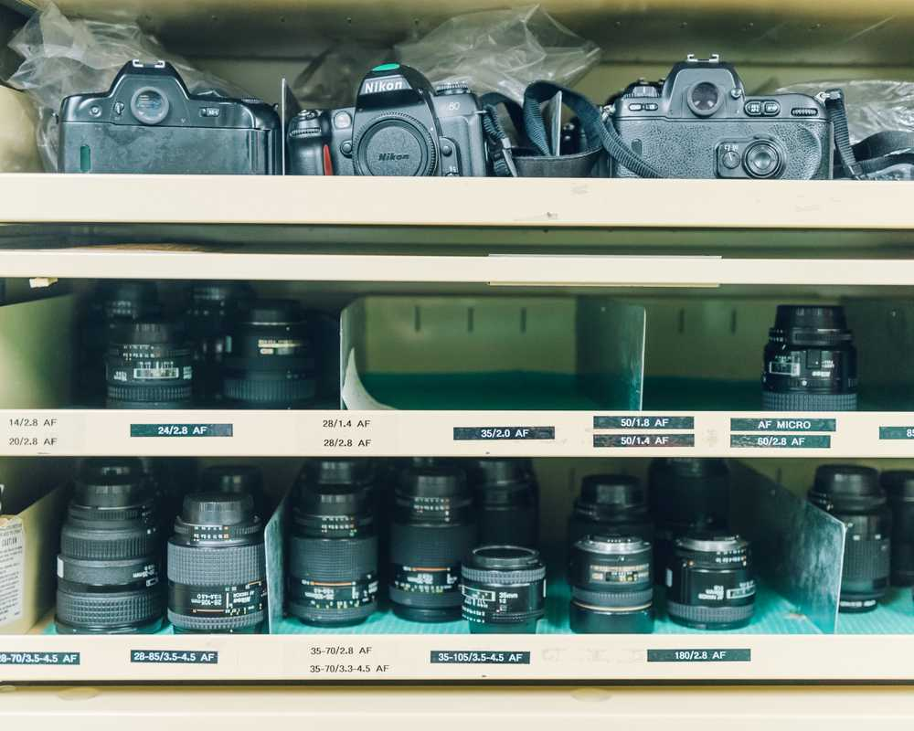 Cameras in the equipment room