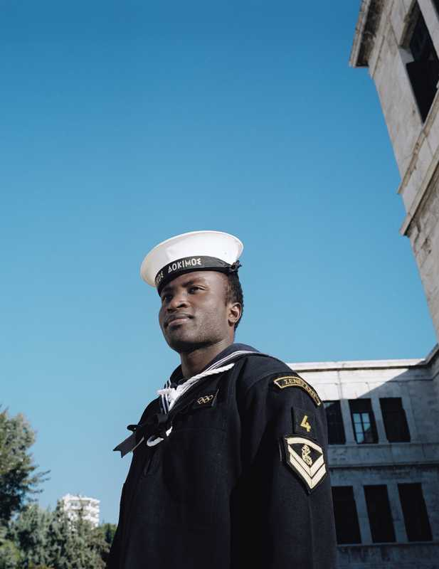 Seydouna Hamza Amar is among the 29 foreigners in the Piraeus naval academy