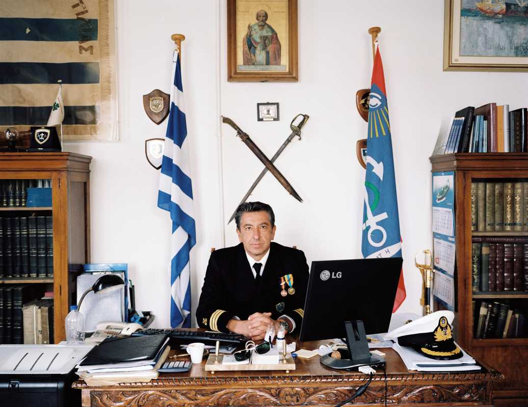 Commanding officer Ioannis Kokios runs and lives in the school
