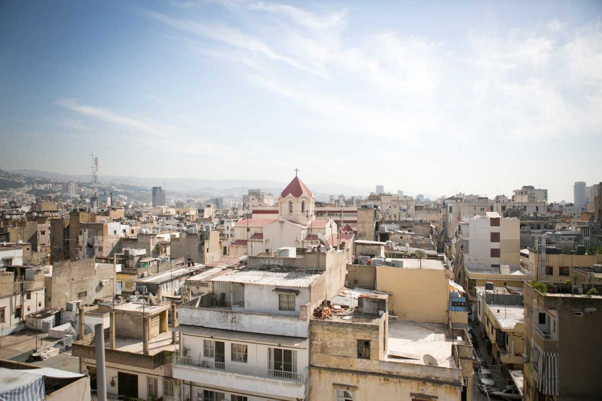 View of Bourj Hammoud, taken from the top of Yeprem
