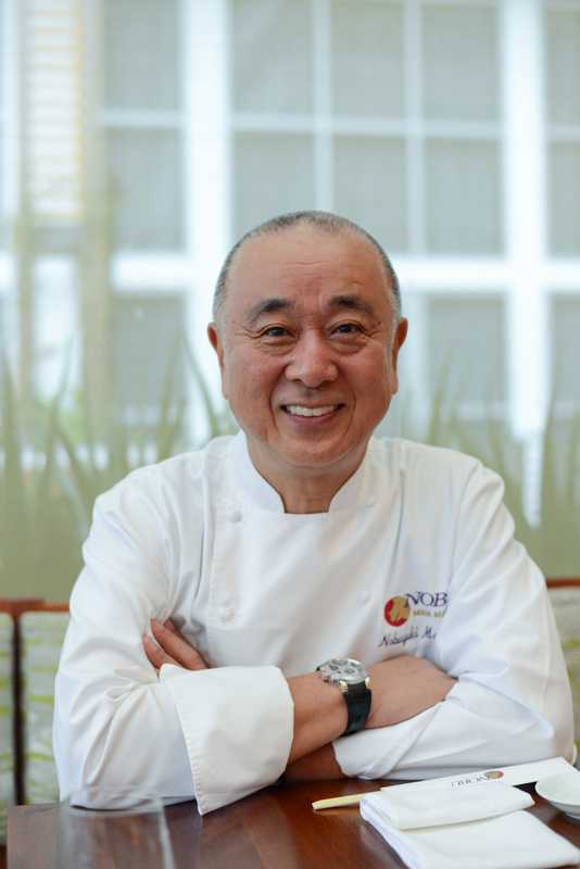 Nobu Matsuhisa at his Miami Beach restaurant