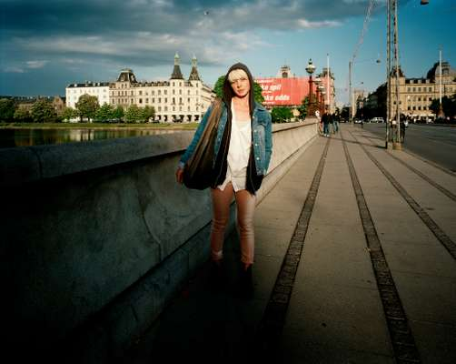 Christel Hielscher, 22, on Queen Louise bridge