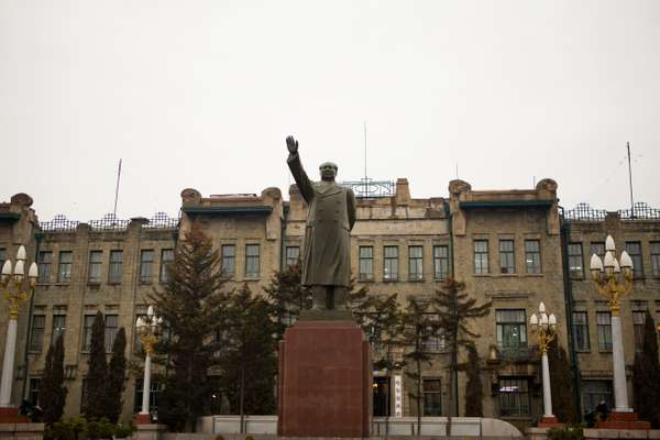 Statue of Mao Zedong by the Harbin Railway Bureau