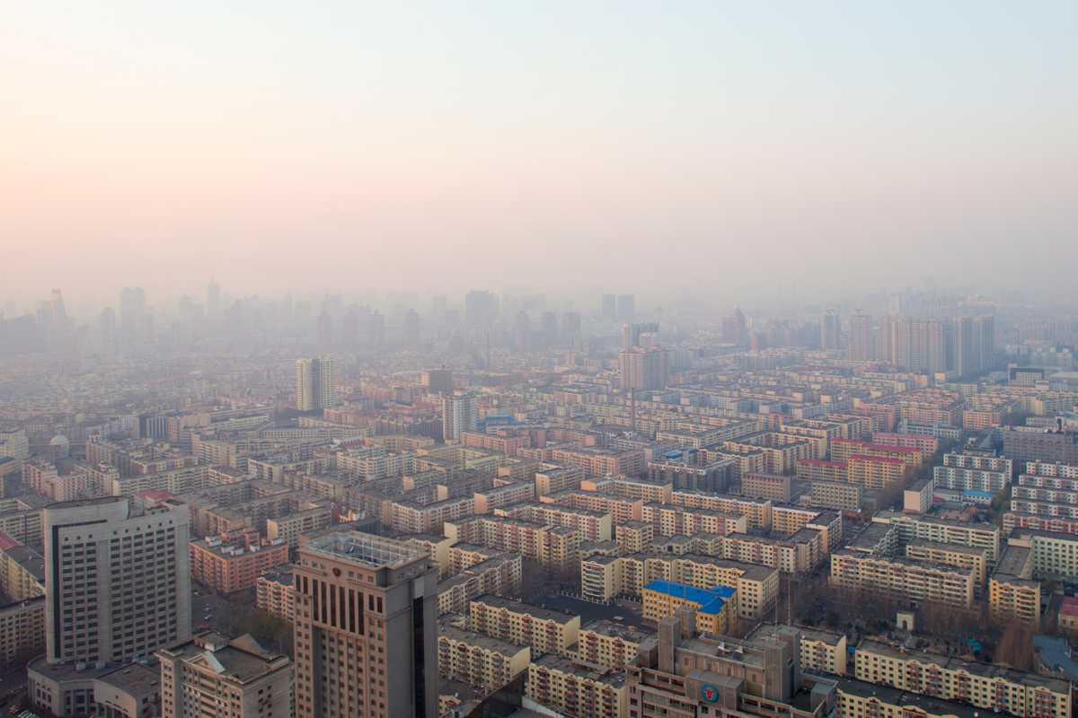 Sprawling downtown Harbin