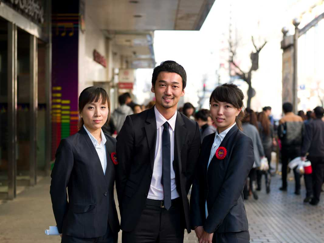 Grand Shopping Centre staff in Guogeli Street