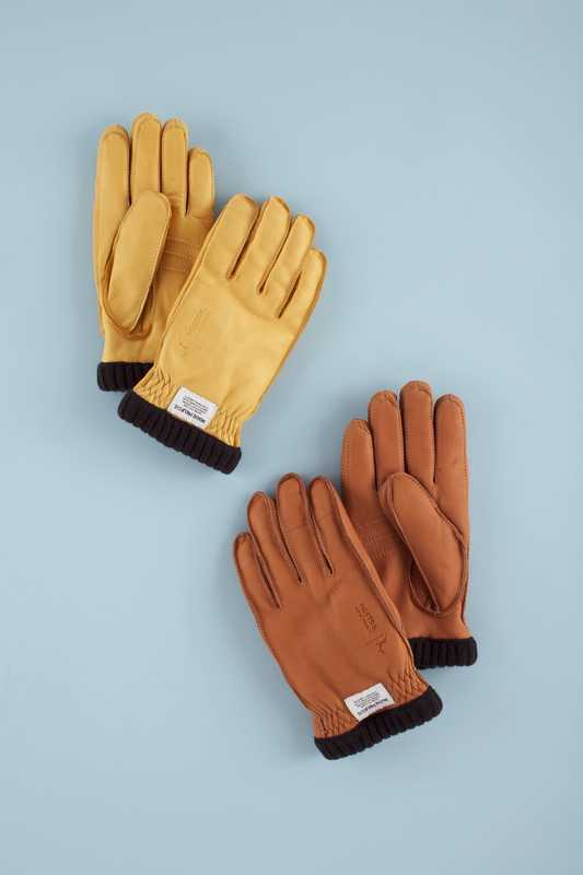 Copenhagen's Norse Projects shop has worked with Swedish glove maker Hestra to produce deerskin gloves