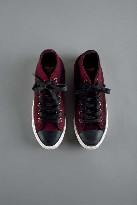 Woolrich checked trainers made in collaboration with Converse