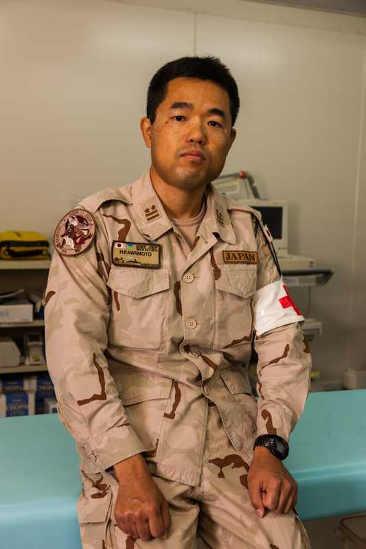 Japan Self-Defence Forces's  Lt Col Hirotsugu Awamoto, a medical officer at the Japanese base