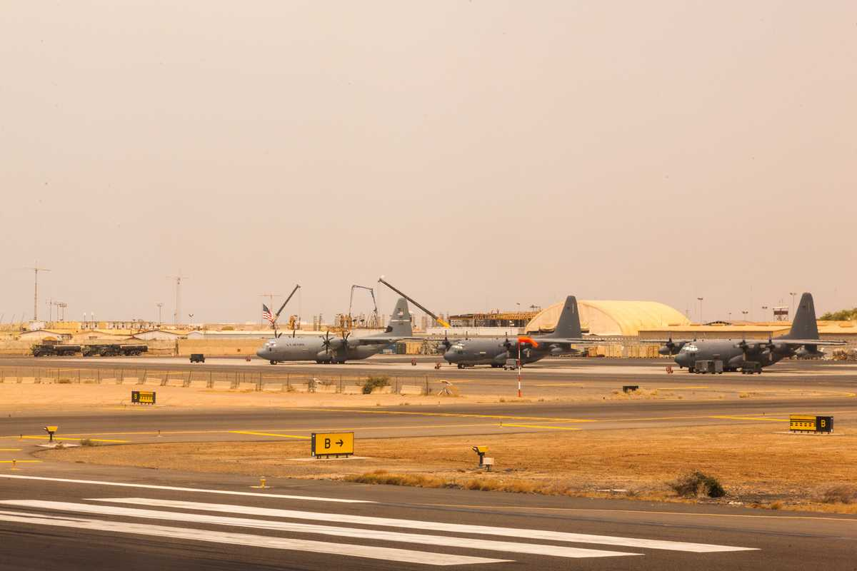 US planes on the airfield