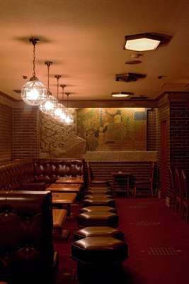 Old Imperial Bar at the Imperial Hotel in Tokyo hasn't changed since the 1970s and retains some of the original features from the 1923 incarnation of the Frank Lloyd Wright-designed hotel