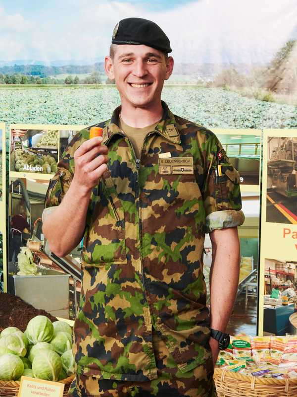 The Swiss army's Sebastian Leuenberger