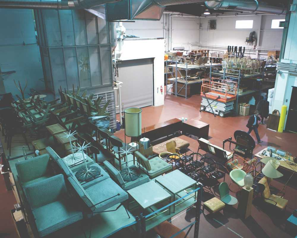 Wright's warehouse is a treasure trove of 20th-century design
