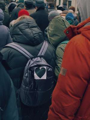 Black heart, the symbol of the protest