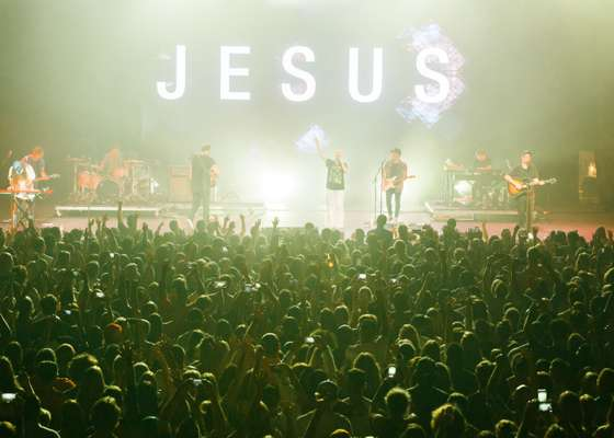 Hillsong United performing