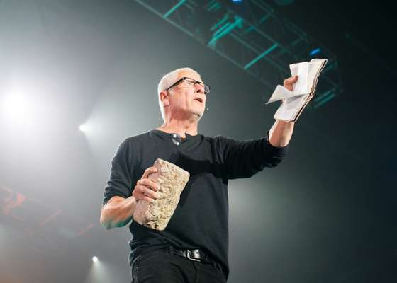 Preacher Louie Giglio at the Outcry Festival