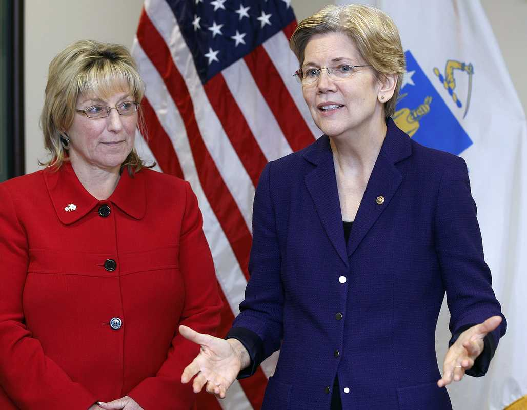 Elizabeth Warren (right)