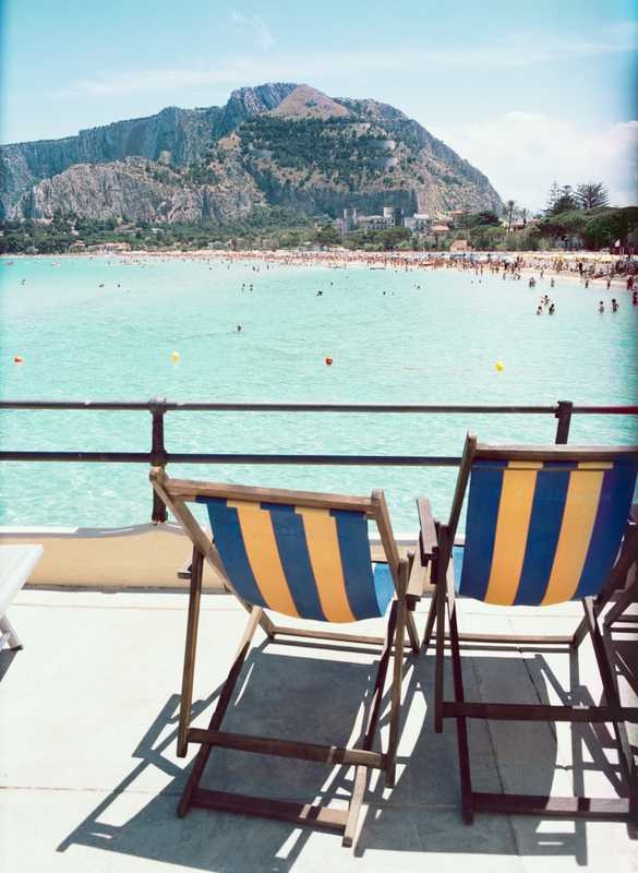 Perfect spot on Mondello Beach