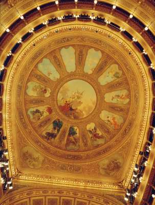 Ceiling of the  Teatro Massimo