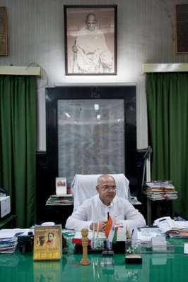 Mayor Sovan Chatterjee in his office