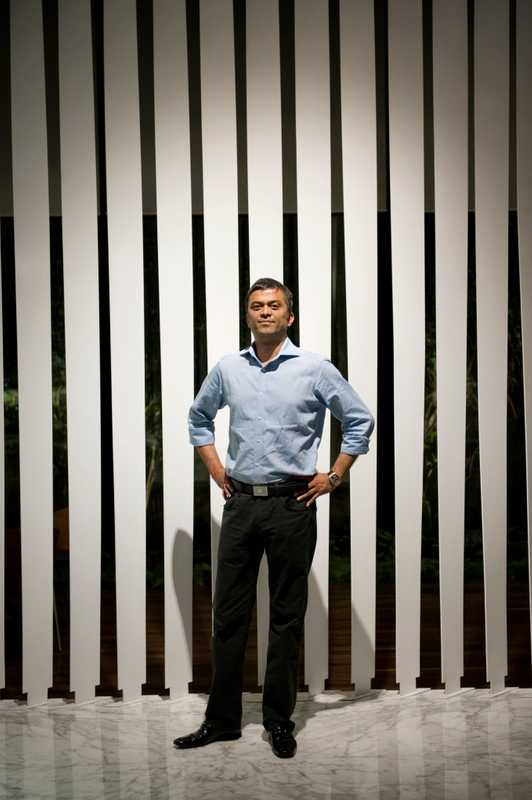 Rahul Saraf, developer of the Atmosphere building