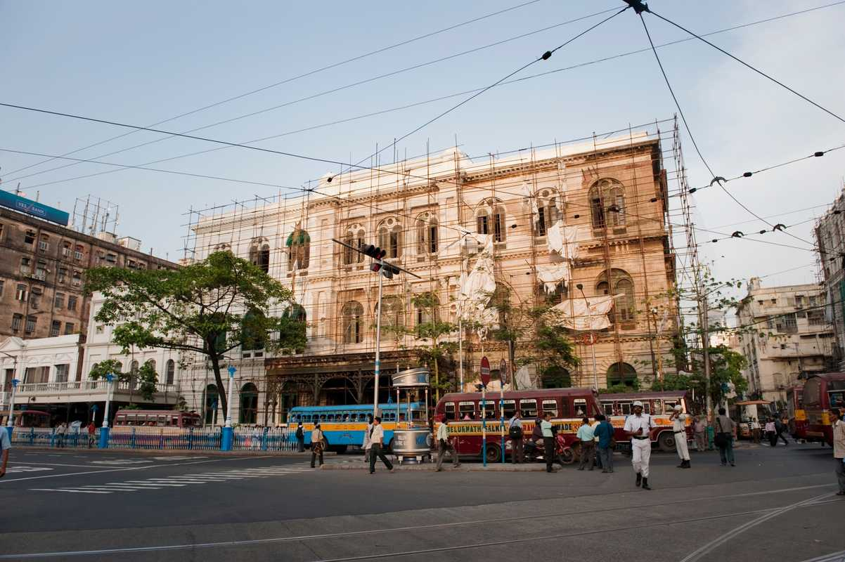 Renovation work in central Kolkata