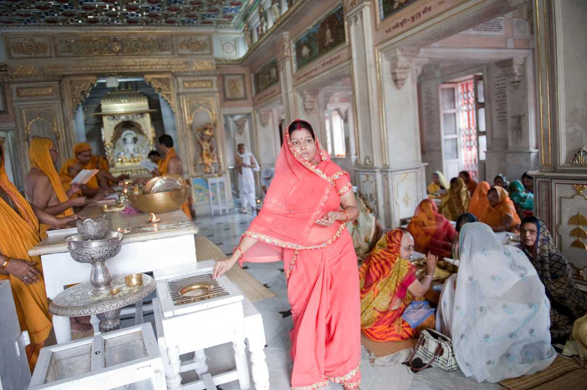 Inside one of Kolkata's Jain temples