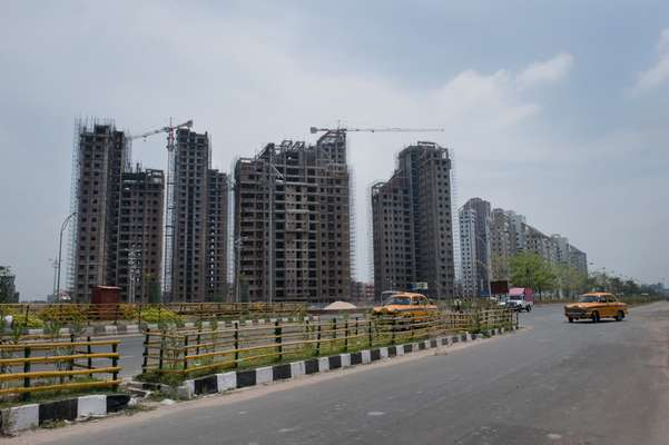 New buildings going up in Rajarhat