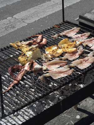 On the menu: grilled squid