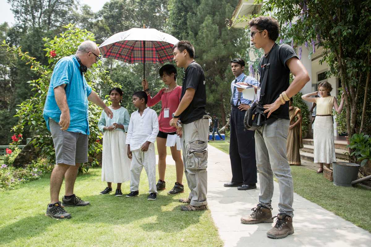On the set of 'Indian Summers'