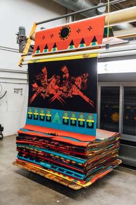 Blankets  with indigenous motifs