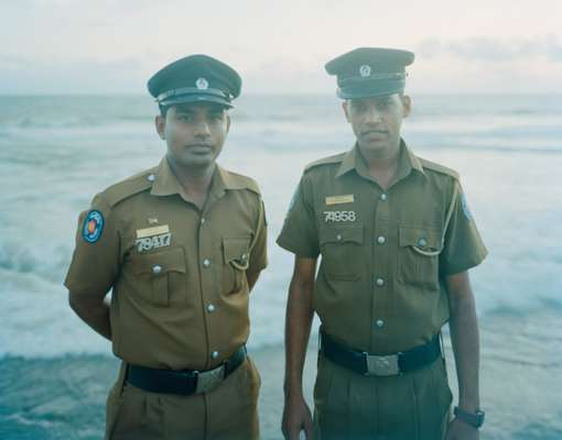 Dissanayaka and Kumarasinghe, policemen at the Galle Face hotel