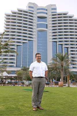 Patrick Antaki, general manager of Le Meridien Al Aqah beach resort