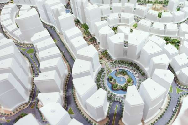 The model plan of Al Hilal City