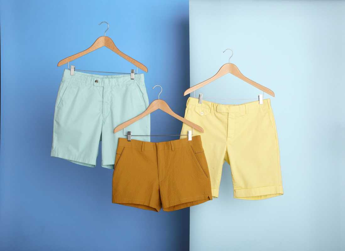 Shorts for the summer: (left to right) Hentsch Man, London; Hermès, Paris; Incotex, Venice