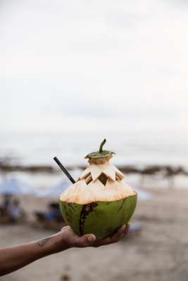 Beachside coconut mojito at The Lawn