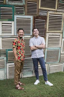 Ronald Akili (left) and Jason Gunawan, the founders of PTT Family
