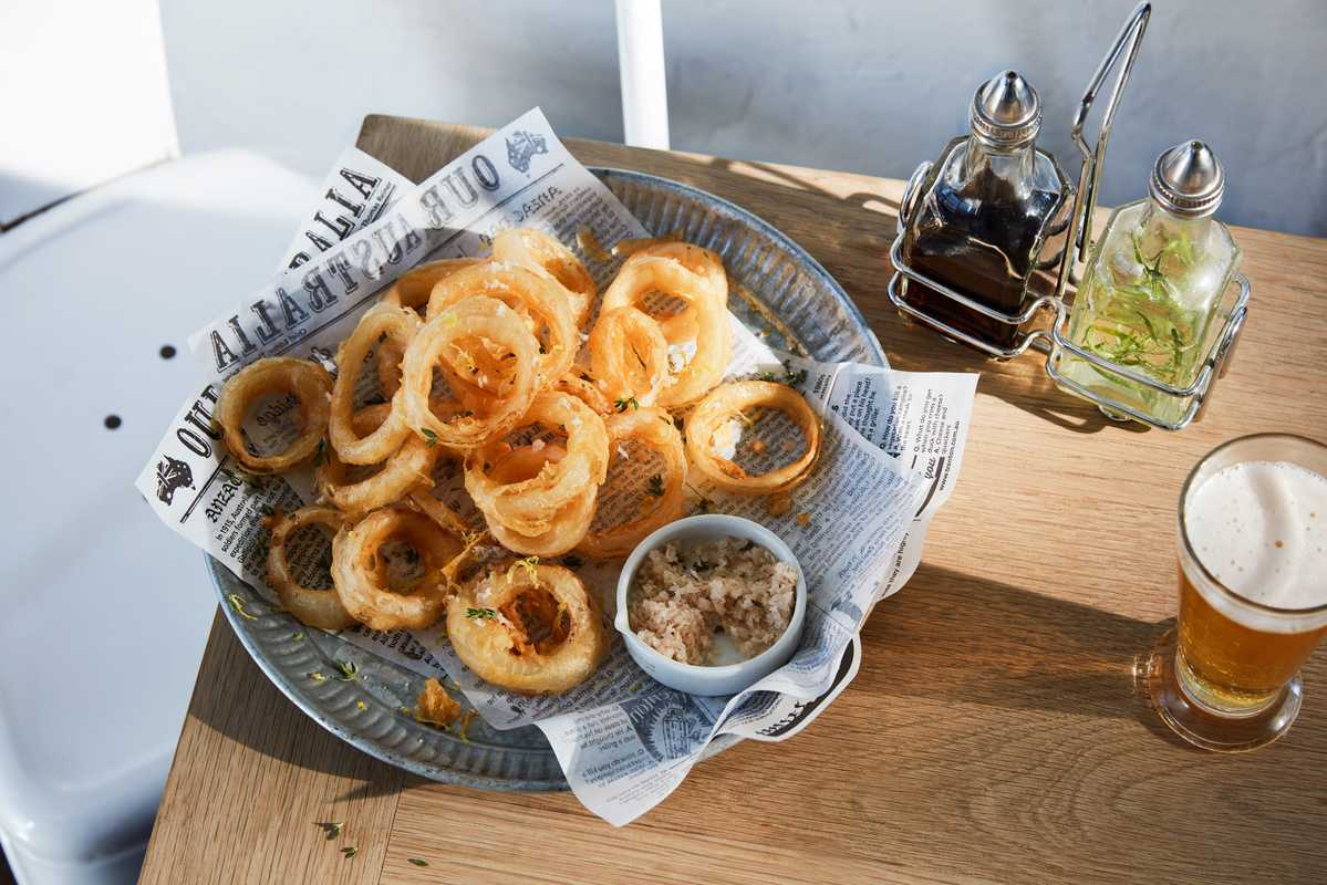 Salt-and-vinegar onion rings