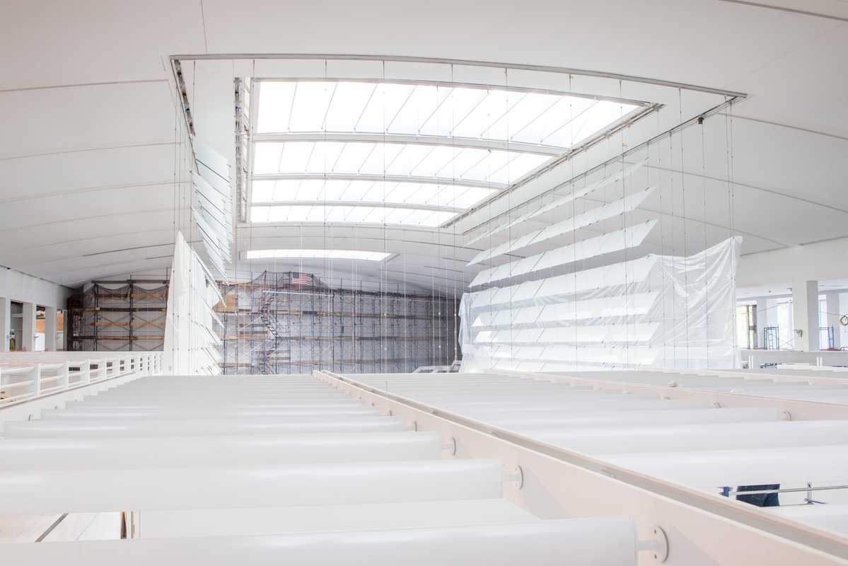 Skylight is enhanced by a structure made of sheets of glass