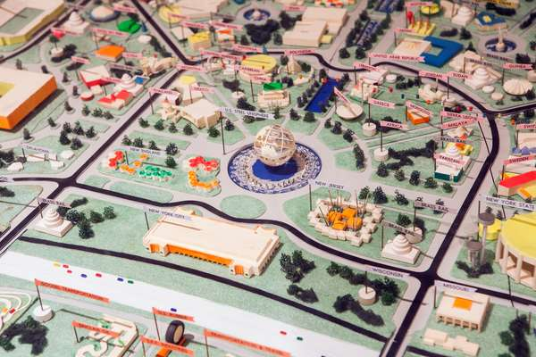 Model of the site during the 1964 World's Fair