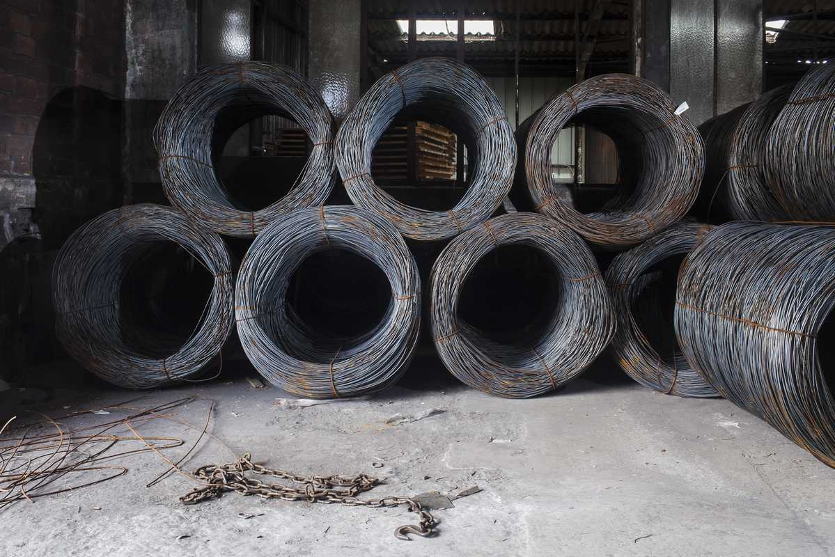 Steel wire for making nails