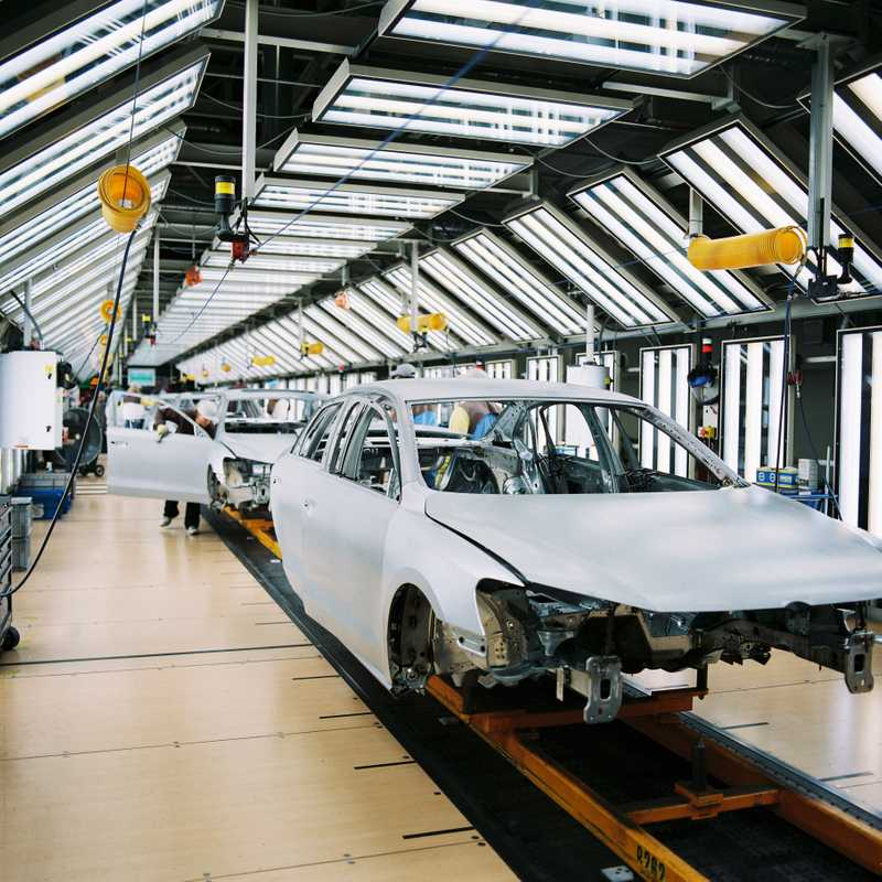 The Volkswagen factory
